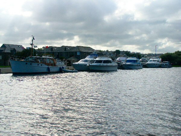 Visiting boats from the Severn Motor Yacht Club on 3rd August
