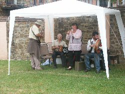 Musicians entertaining at Bude Canal Day