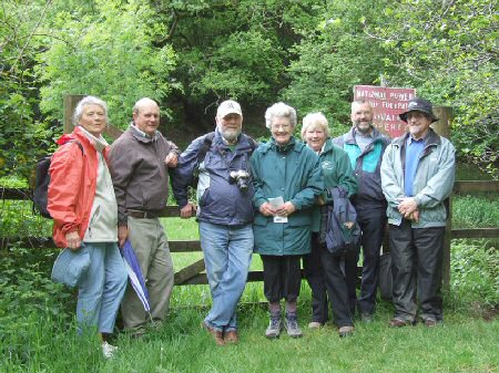 Walkers at the end of the walk on the Tavistock Canal on 19th May.  Photo: Alan Pedrick