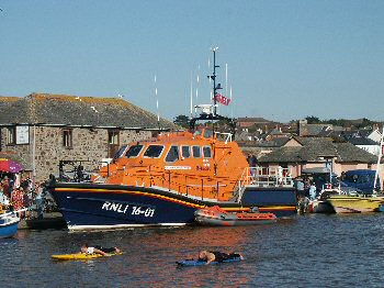 Visiting lifeboat moored in Lower Wharf 2007