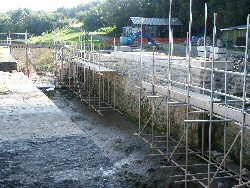 Restoration work on the sea lock at Annery